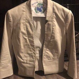 Express Beige short sleeve blazer size 6
